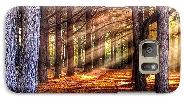 Galaxy Case featuring the photograph Light Thru The Trees by Sumoflam Photography