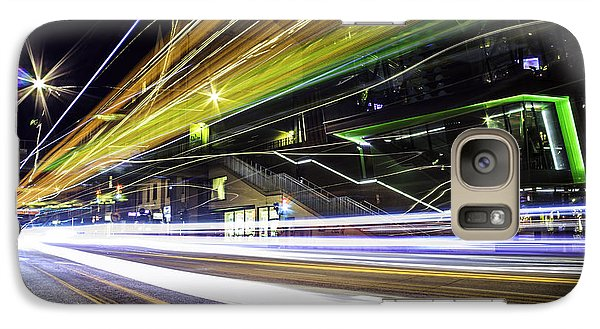 Galaxy Case featuring the photograph Light Trails 1 by Nicklas Gustafsson