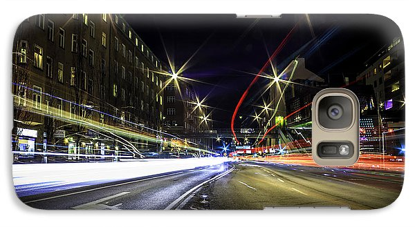Galaxy Case featuring the photograph Light Trails 2 by Nicklas Gustafsson