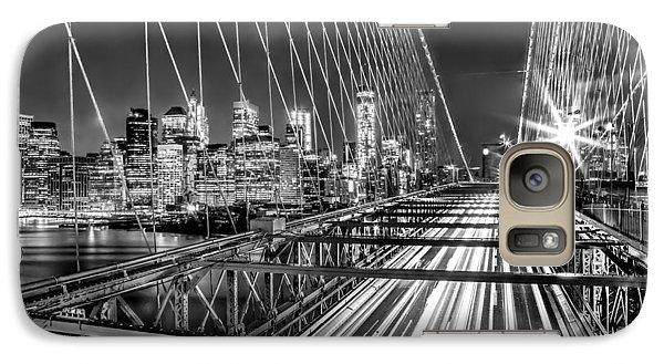 Light Trails Of Manhattan Galaxy S7 Case by Az Jackson