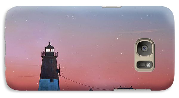 Galaxy Case featuring the photograph  Lighthouse At Sunrise by Juli Scalzi