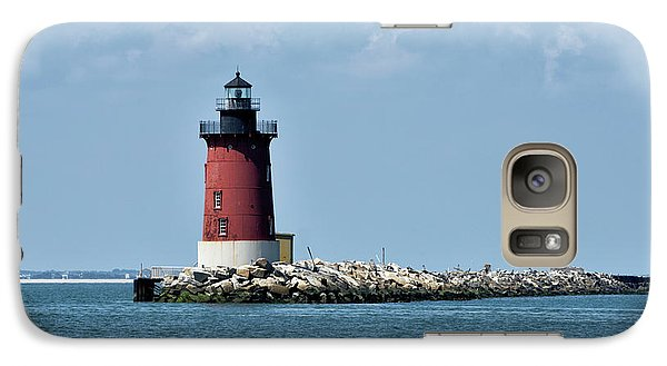 Galaxy Case featuring the photograph Delaware Breakwater East End Lighthouse - Lewes Delaware by Brendan Reals