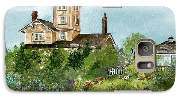 Galaxy Case featuring the painting Lighthouse Gardens  by Nancy Patterson