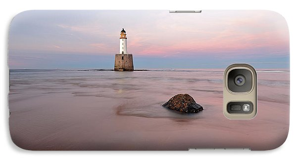 Galaxy Case featuring the photograph Lighthouse Sunset Rattray Head by Grant Glendinning