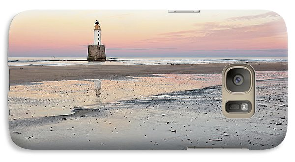 Galaxy Case featuring the photograph Lighthouse Sunset - Rattray Head by Grant Glendinning