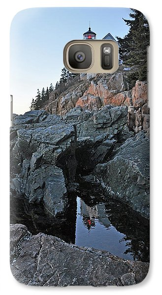 Galaxy Case featuring the photograph Lighthouse Reflection by Glenn Gordon