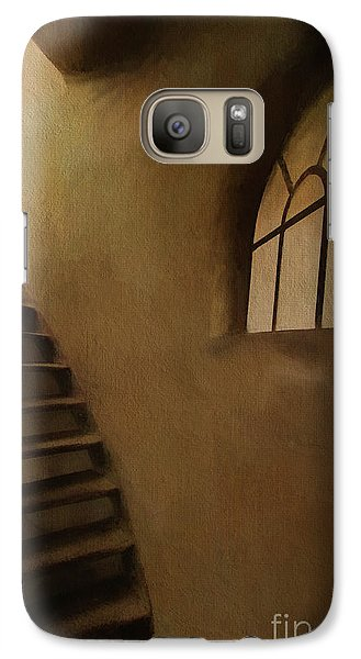 Galaxy Case featuring the photograph Lighthouse Stairs by Jim  Hatch