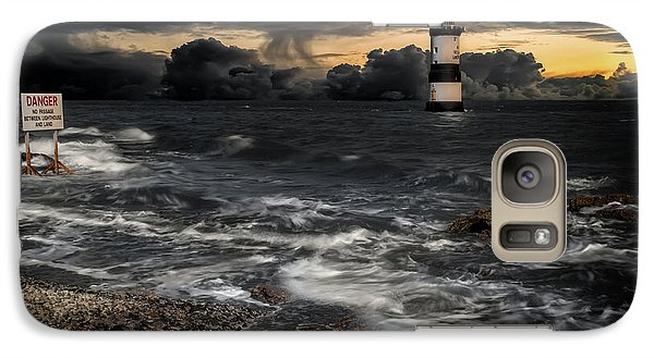 Puffin Galaxy S7 Case - Lighthouse Storm by Adrian Evans