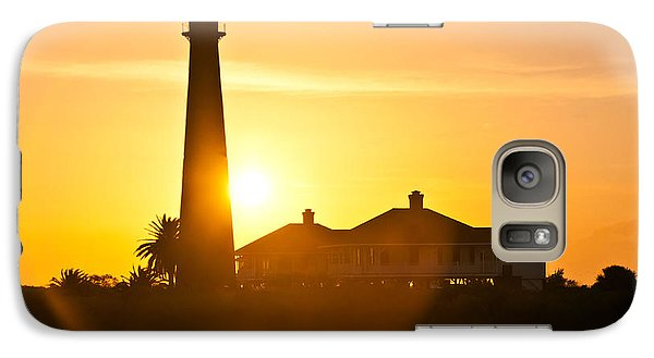 Galaxy Case featuring the photograph Lighthouse Sunset by John Collins