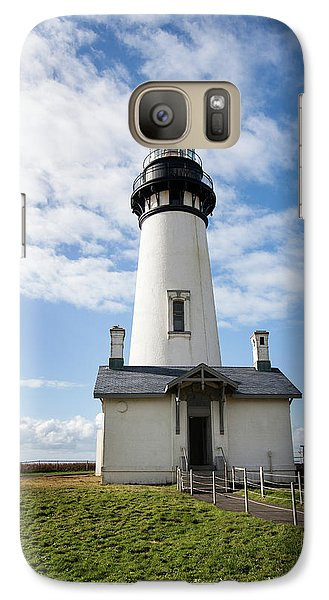 Galaxy Case featuring the photograph Lighthouse View by Mary Jo Allen