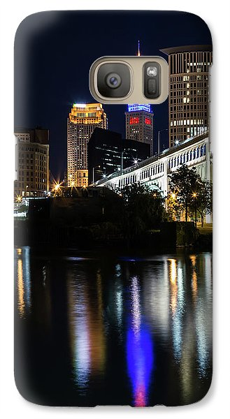 Galaxy Case featuring the photograph Lighting Up Cleveland by Dale Kincaid