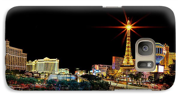 Lighting Up Vegas Galaxy S7 Case by Az Jackson