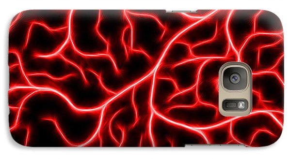 Galaxy Case featuring the digital art Lightning - Red by Shane Bechler