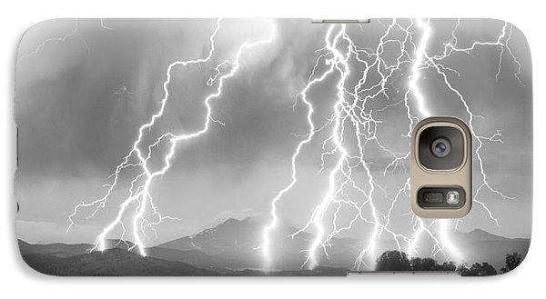 Lightning Striking Longs Peak Foothills 4cbw Galaxy S7 Case by James BO  Insogna