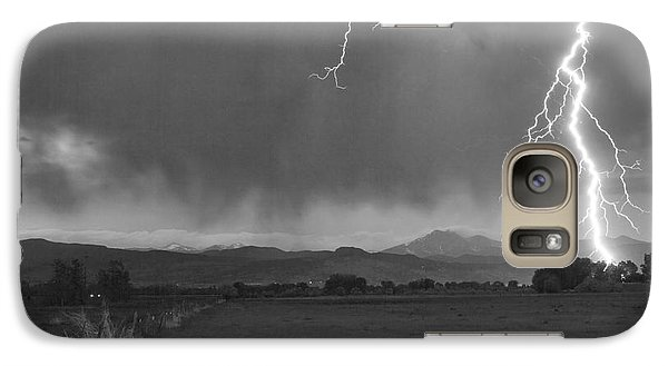 Lightning Striking Longs Peak Foothills 5bw Galaxy S7 Case