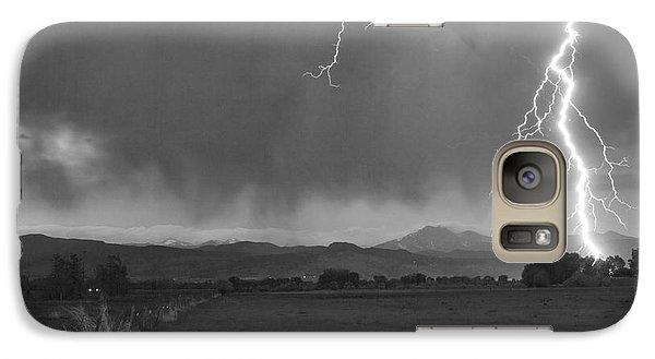 Lightning Striking Longs Peak Foothills 5bw Galaxy S7 Case by James BO  Insogna