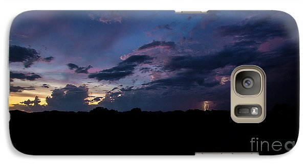 Galaxy Case featuring the photograph Lightning Sunset by Brian Jones