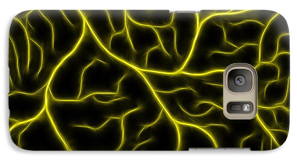 Galaxy Case featuring the photograph Lightning - Yellow by Shane Bechler