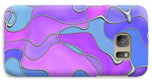 Galaxy Case featuring the digital art Lignes En Folie - 02a by Variance Collections