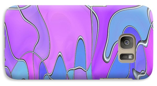 Galaxy Case featuring the digital art Lignes En Folie - 03a by Variance Collections