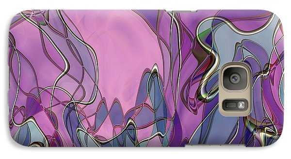 Galaxy Case featuring the digital art Lignes En Folie - 13a by Variance Collections