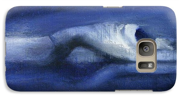 Galaxy Case featuring the painting Like A Dolphin by Jarmo Korhonen aka Jarko