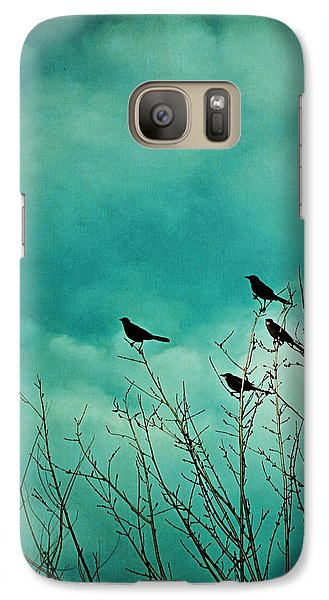 Galaxy Case featuring the photograph Like Birds On Trees by Trish Mistric