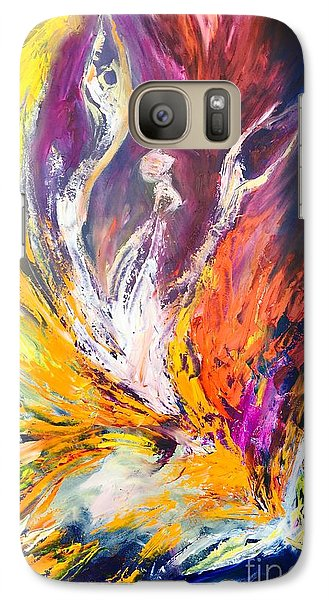 Galaxy Case featuring the painting Like Fire In The Wind by Marat Essex