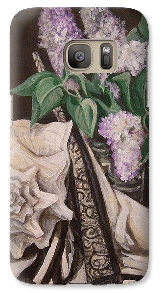 Galaxy Case featuring the painting Lilac And Lingerie by Laura Aceto