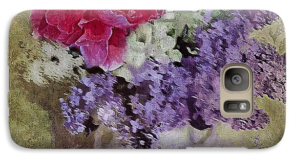Galaxy Case featuring the digital art Lilac Bouquet by Alexis Rotella