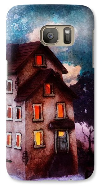 Galaxy Case featuring the painting Lilac Hill by Mo T