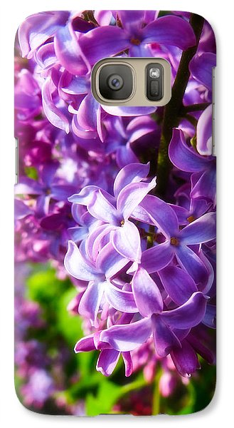 Galaxy Case featuring the photograph Lilac In The Sun by Julia Wilcox