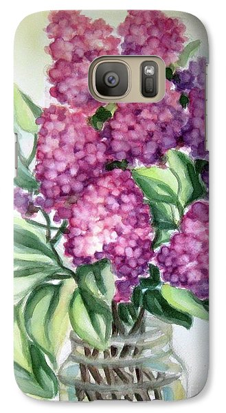 Galaxy Case featuring the painting Lilac On The Kitchen Table by Inese Poga