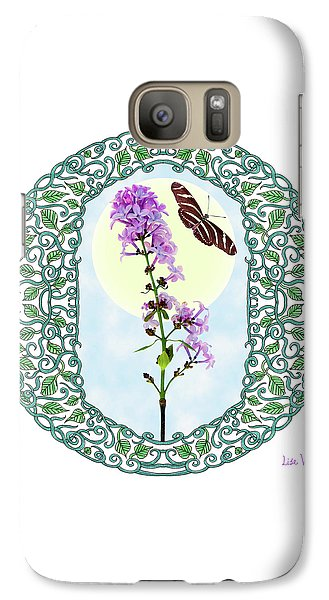 Galaxy Case featuring the digital art Lilac With Butterfly by Lise Winne