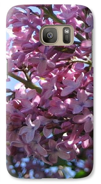 Galaxy Case featuring the photograph Lilacs In Bloom 2 by Barbara Yearty