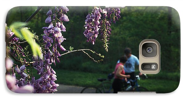 Galaxy Case featuring the photograph Lilacs In Bloom by Carl Purcell