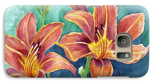 Galaxy Case featuring the painting Lilies by Eleonora Perlic