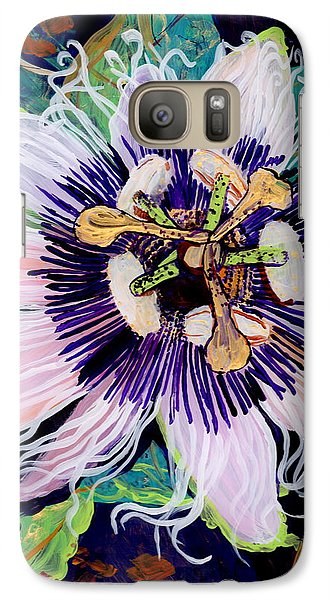 Galaxy Case featuring the painting Lilikoi by Marionette Taboniar