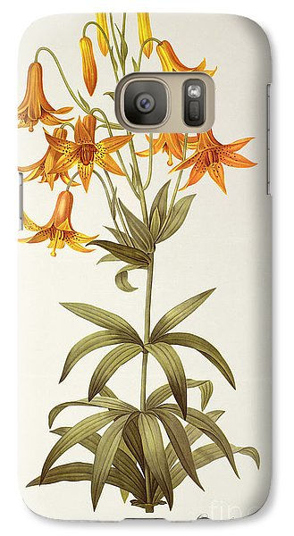 Lily Galaxy S7 Case - Lilium Penduliflorum by Pierre Joseph Redoute