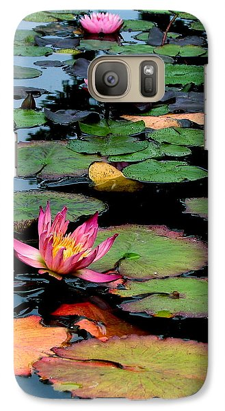 Galaxy Case featuring the photograph Lilly Pads by Jan Cipolla