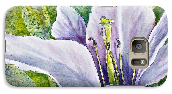 Galaxy Case featuring the painting Lily In Purple by Carolyn Rosenberger