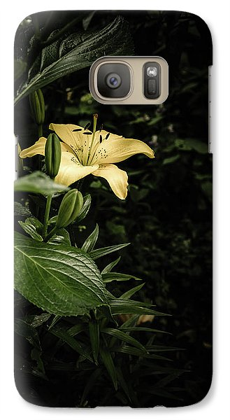 Galaxy Case featuring the photograph Lily In The Garden Of Shadows by Marco Oliveira