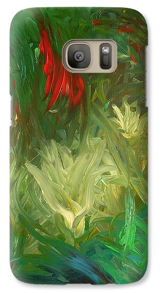 Galaxy Case featuring the painting Lily by Lola Connelly