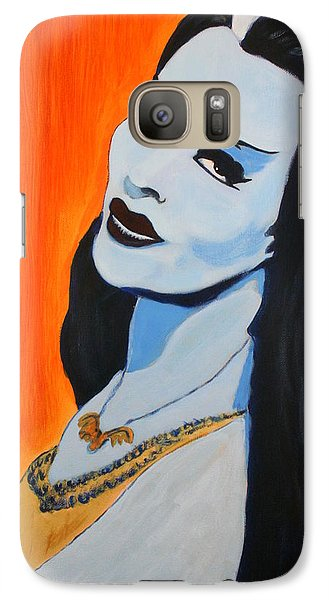 Galaxy Case featuring the painting Lily Munster - Yvonne De Carlo by Bob Baker
