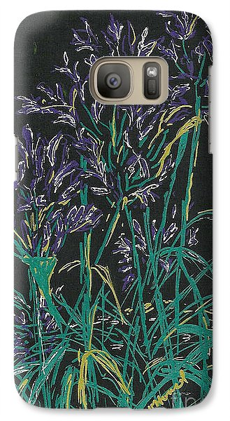 Galaxy Case featuring the mixed media Lily Of The Nile  by Vicki  Housel