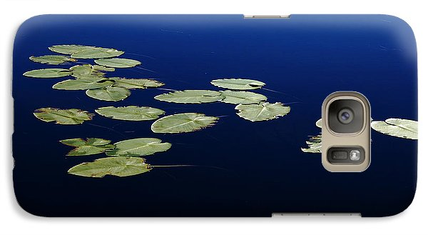 Galaxy Case featuring the photograph Lily Pads Floating On River by Debbie Oppermann