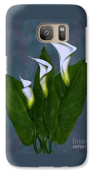 Galaxy Case featuring the painting White Calla Lilies by Peter Piatt