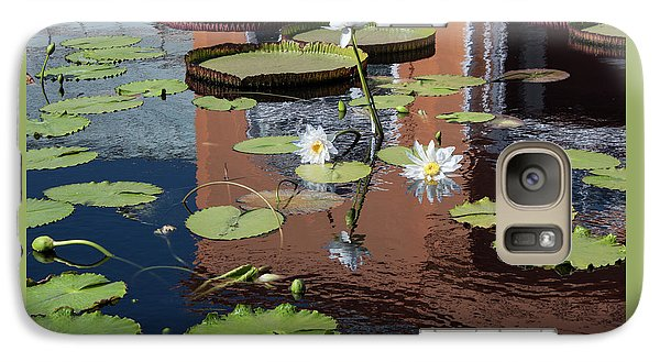 Galaxy Case featuring the photograph Lily Pond Reflections by Suzanne Gaff