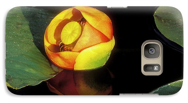 Galaxy Case featuring the photograph Lily Reflection by Sandra Bronstein