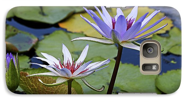 Galaxy Case featuring the photograph Lily Trio by Judy Vincent